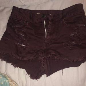 High waisted American eagle jeans shorts!
